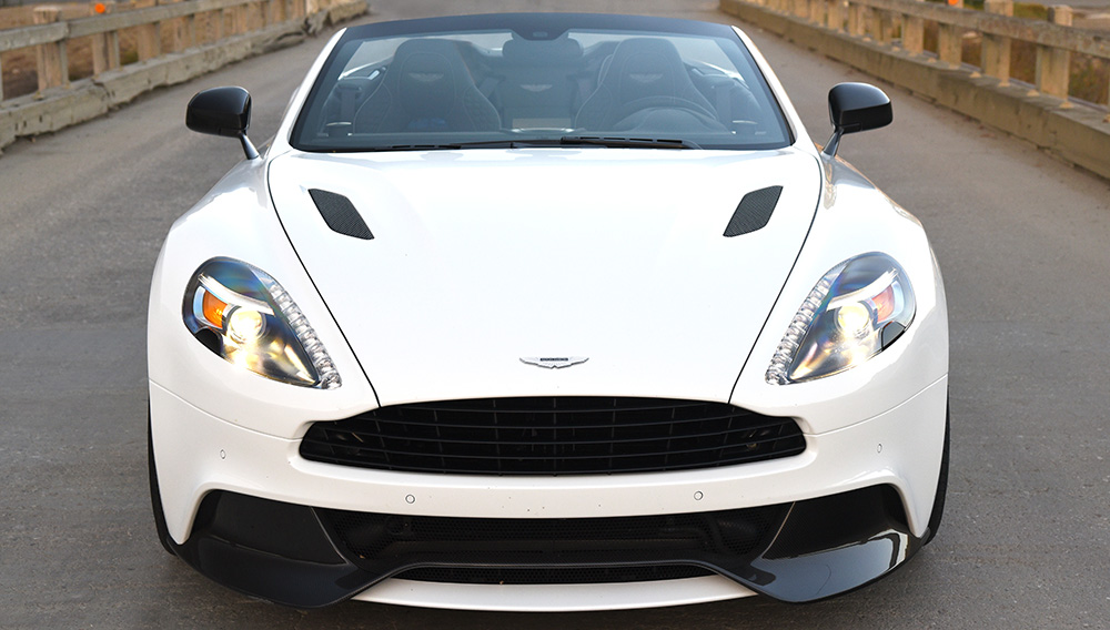 Driving The 318 000 Aston Martin Vanquish Volante Carbon Edition Robb Report