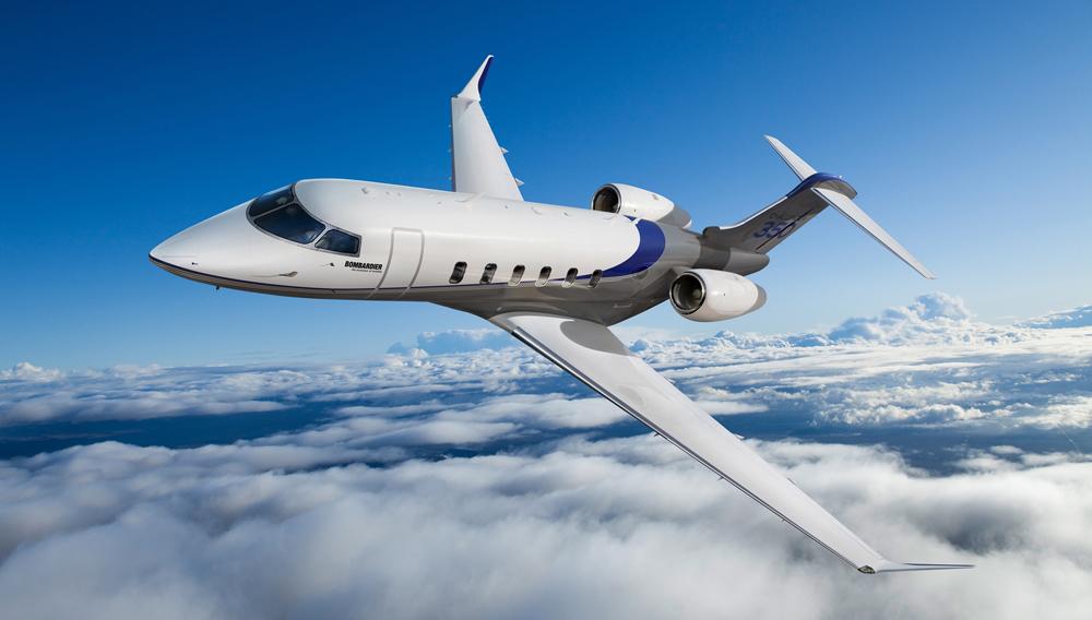 Bombardier Challenger 350 A Bombardier Challenger 350 jet soars using SAJF.