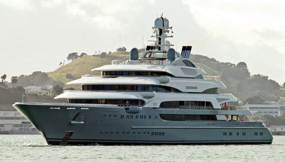 Fincantieri Yachts' 459-foot Ocean Victory Photo by Trevor Coppock / TheYachtPhoto.com