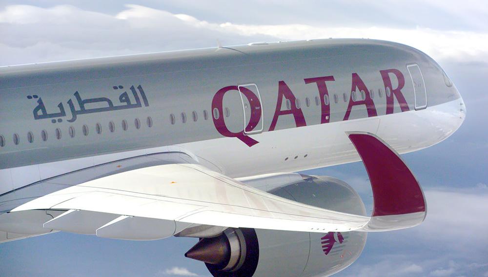 Qatar Airways' new A350 XWB aircraft.