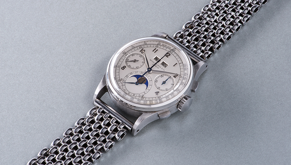 A stainless steel Patek Philippe Reference 1518 from 1943