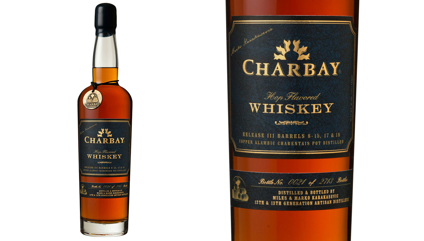 Charbay Hop Flavored Whiskey, Release III