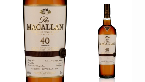 Macallan 40-year-old blended Scotch($8,000)