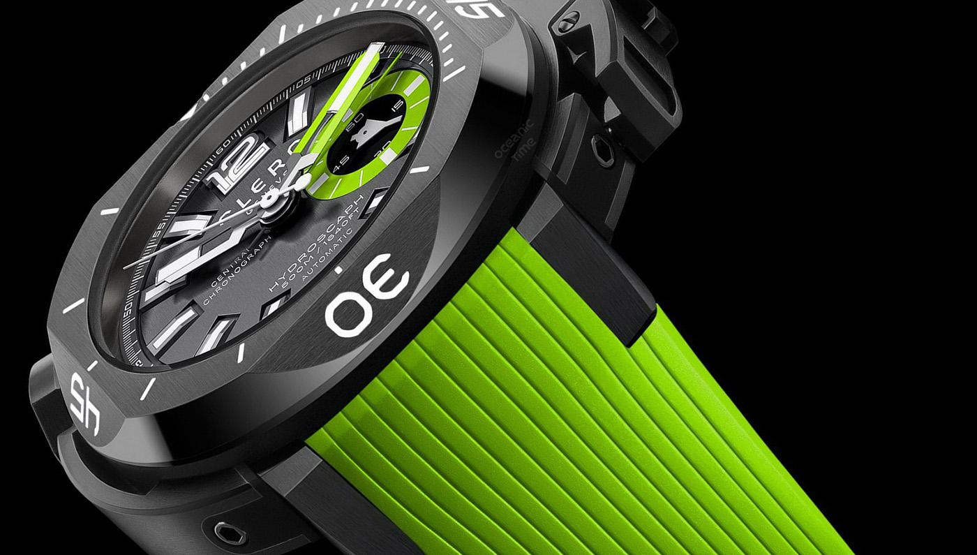 Clerc Hydroscaph Central Chronograph Green Envy