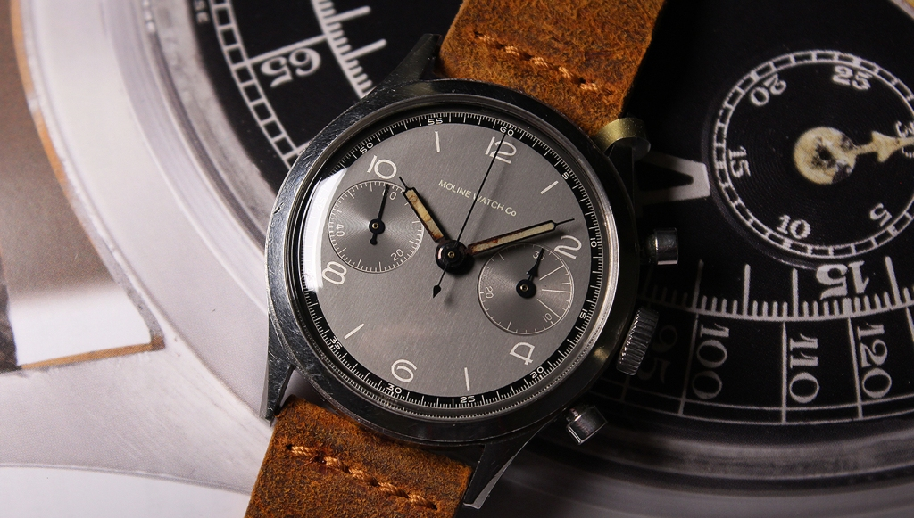 vintage chronograph watch moline
