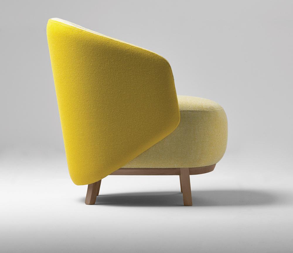 Concha armchair Samuel Accoceberry