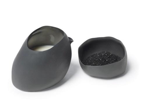 Kathryn Scott creamer and sugar bowl