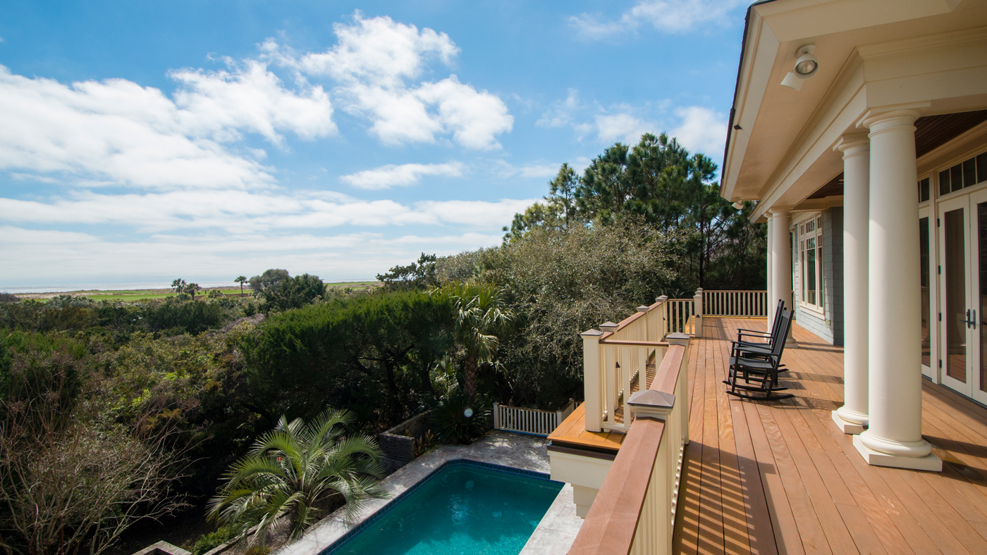 Kiawah Island home with swimming pool and deck