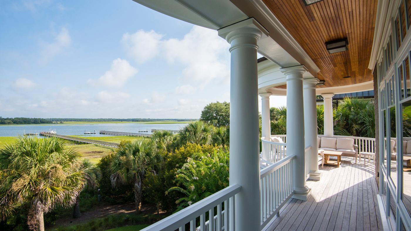 Kiawah Island home with wraparound porch