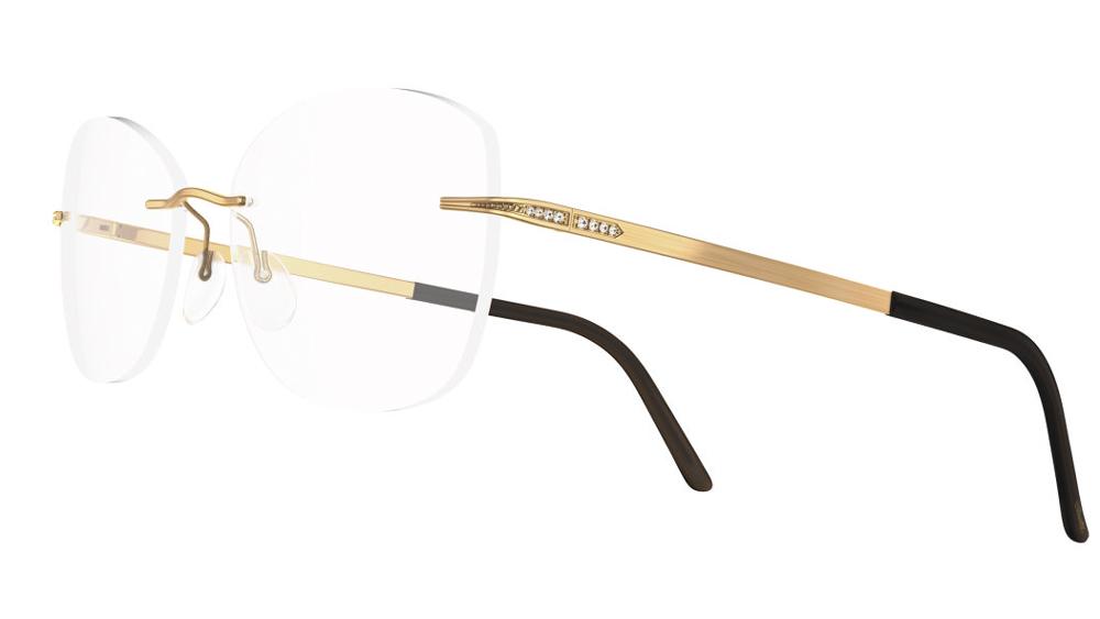 Silhouette Eyewear collection offers sleek 18-karat gold frames