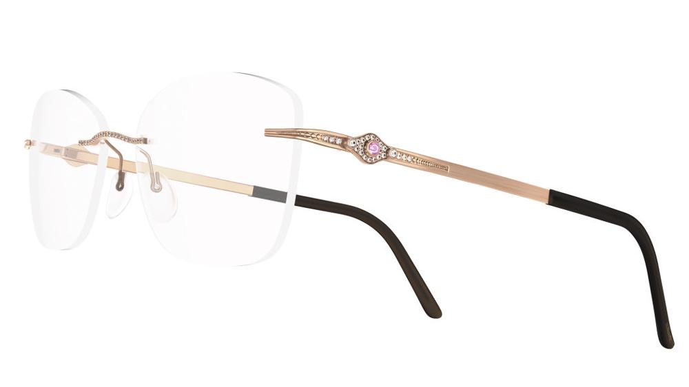 Silhouette Eyewear in rose gold