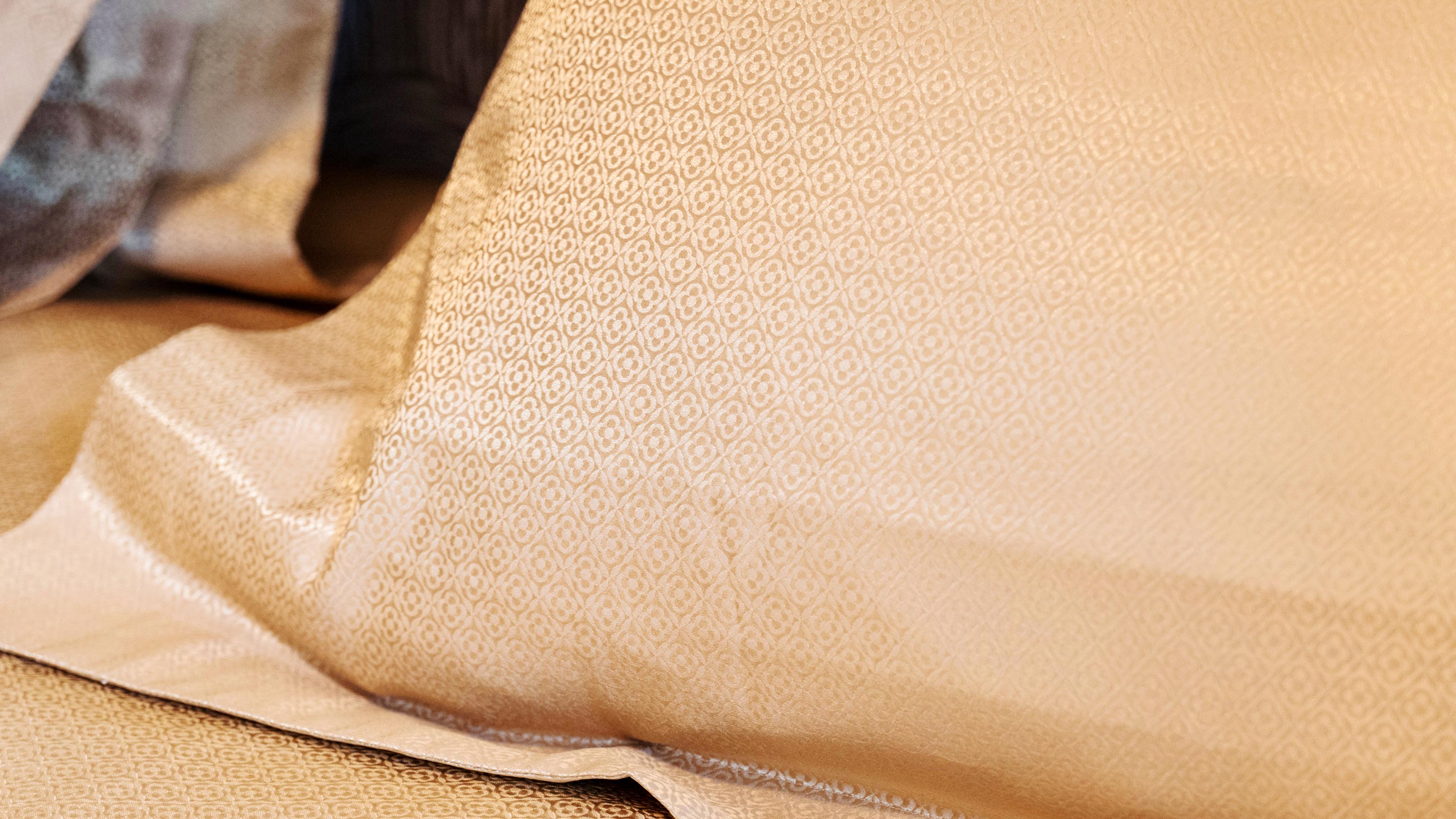 24-karat-gold bed sheets