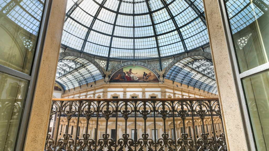 Inside of the TownHouse Galleria in Milan