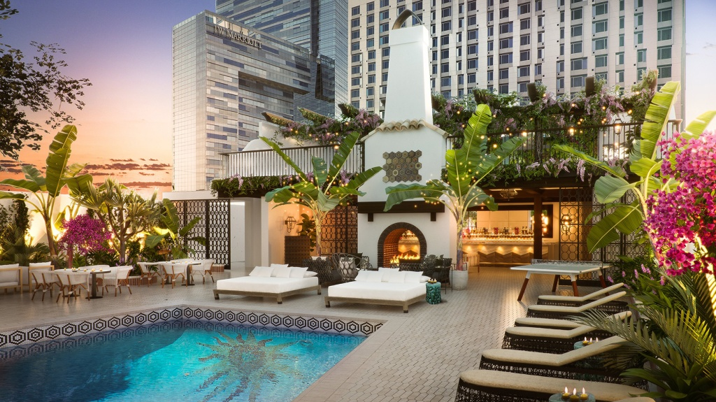 Hotel Figueroa makeover renovations downtown los angeles
