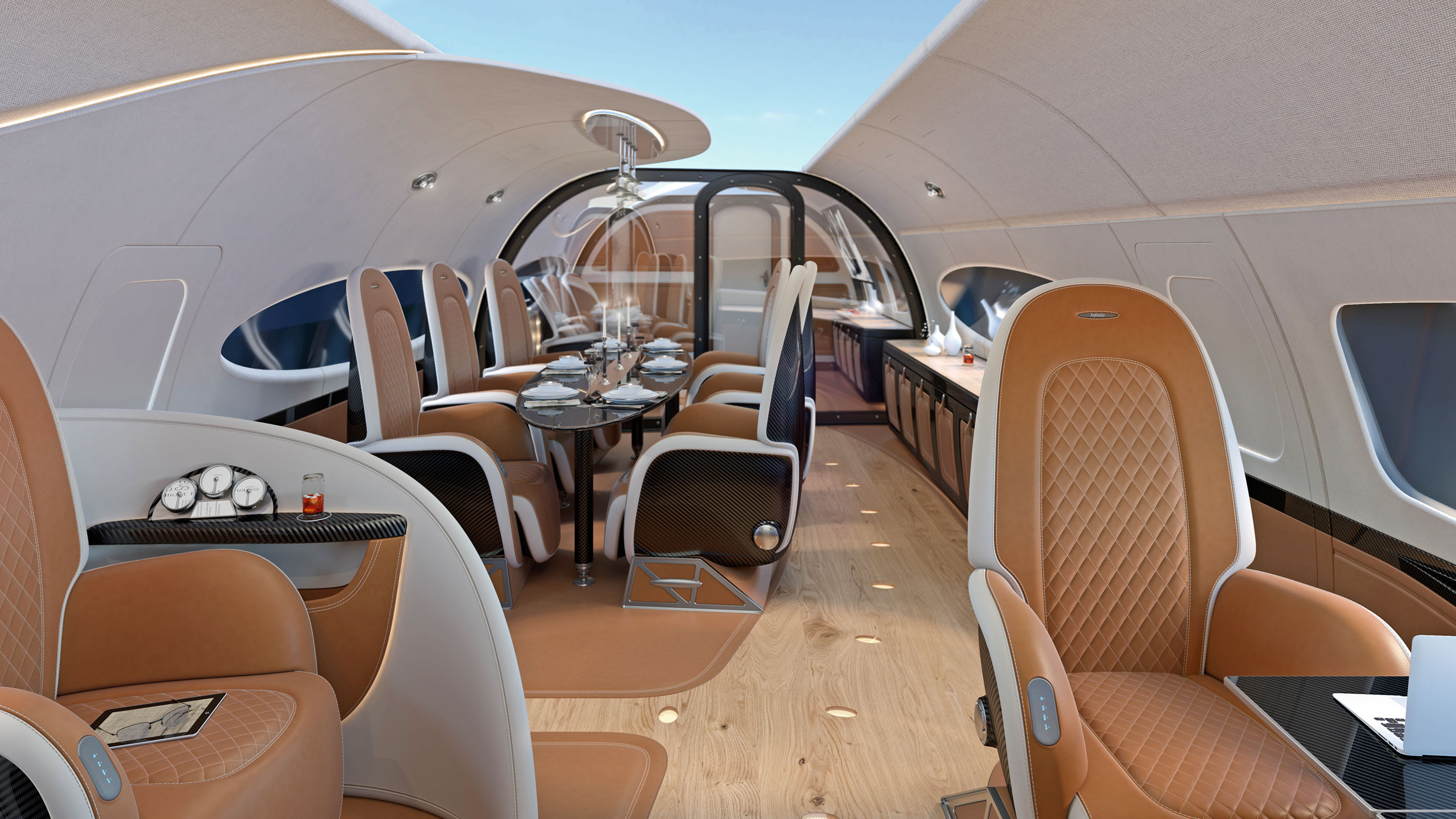 Pagani's Infinito Sky Ceiling for the Airbus ACJ319neo Jet