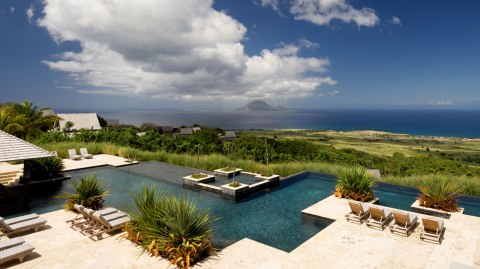 Infinity pool overlooking the ocean