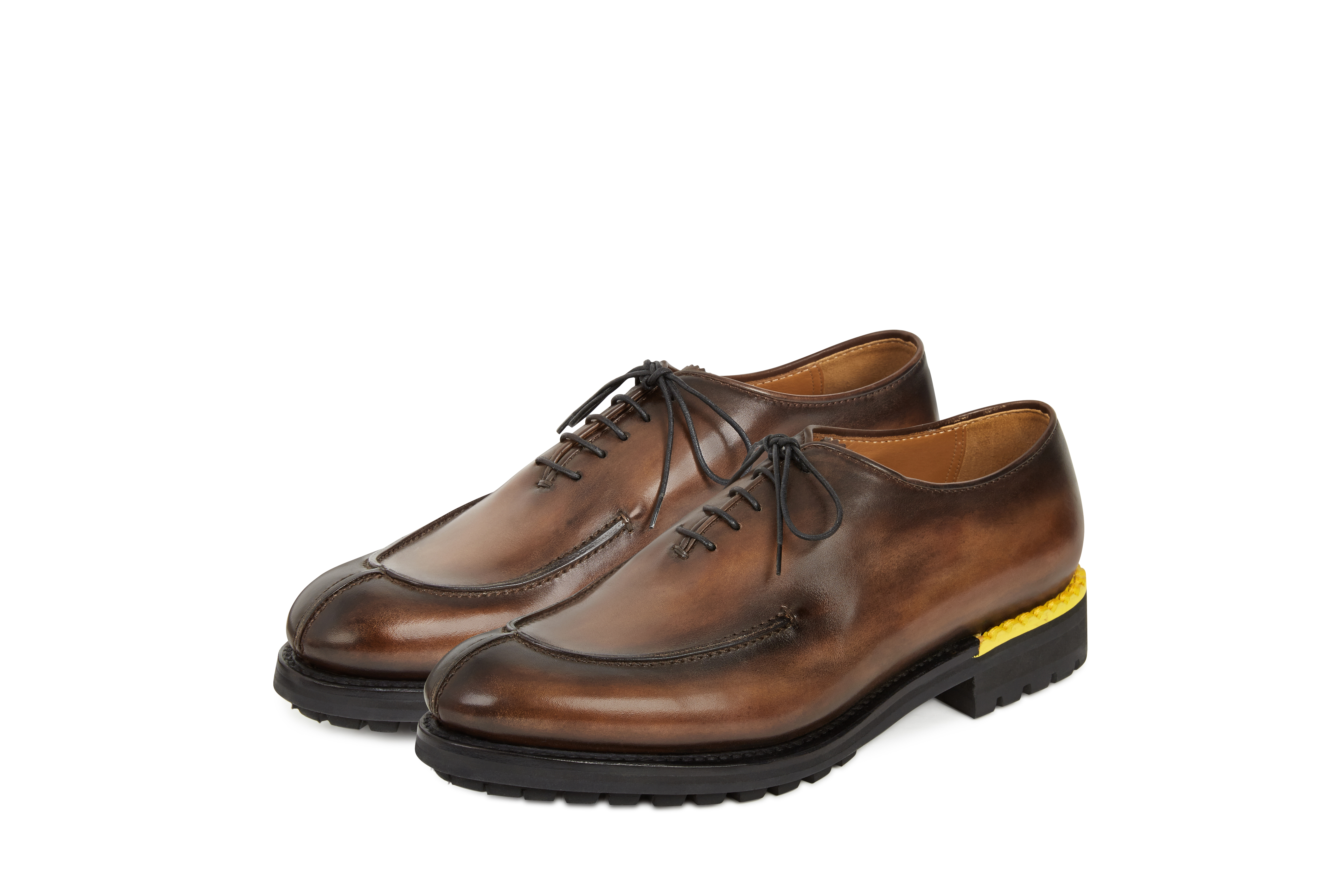 The classic Berluti lace-up leather oxford shoes