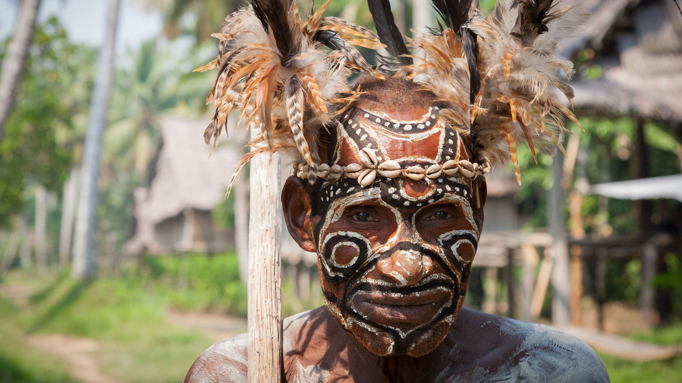 tribesman in Papua New Guinea