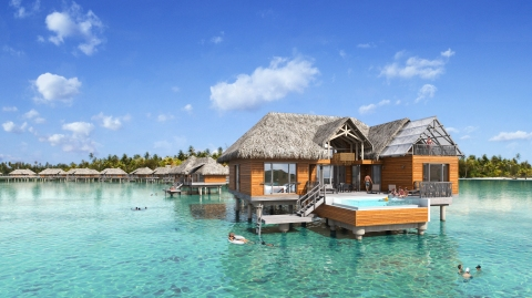 Brando Suites Bora Bora exterior of bungalows