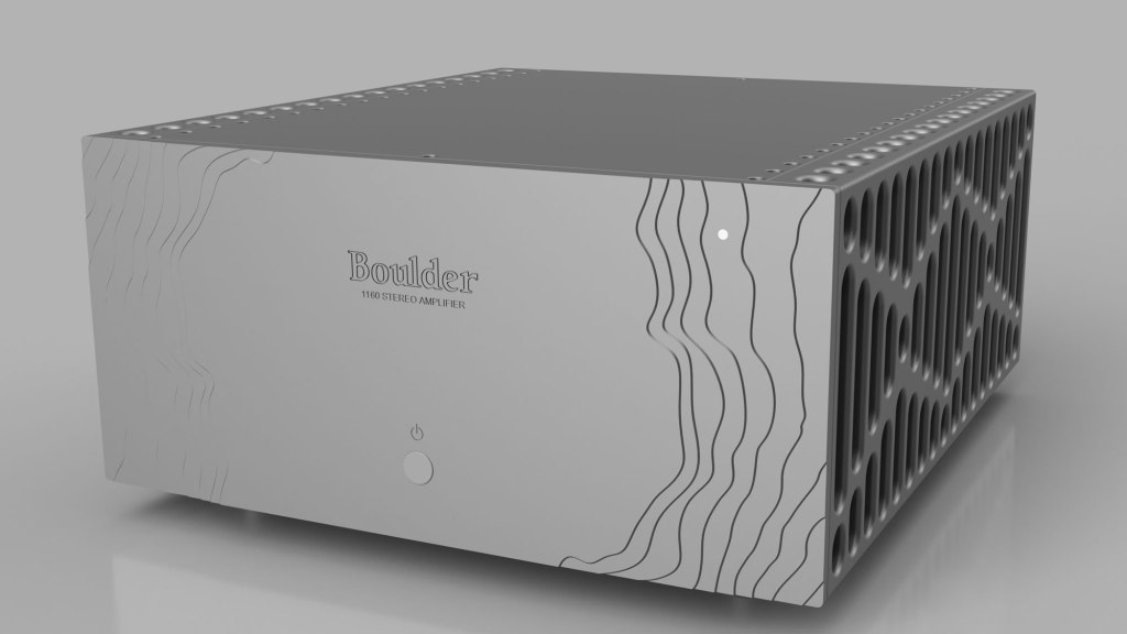 gray Boulder 1160 Amplifier with three-dimensional topography on front panel