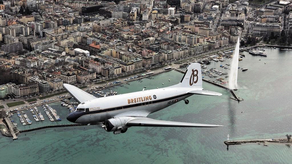 Breitling DC-3 Over Geneva