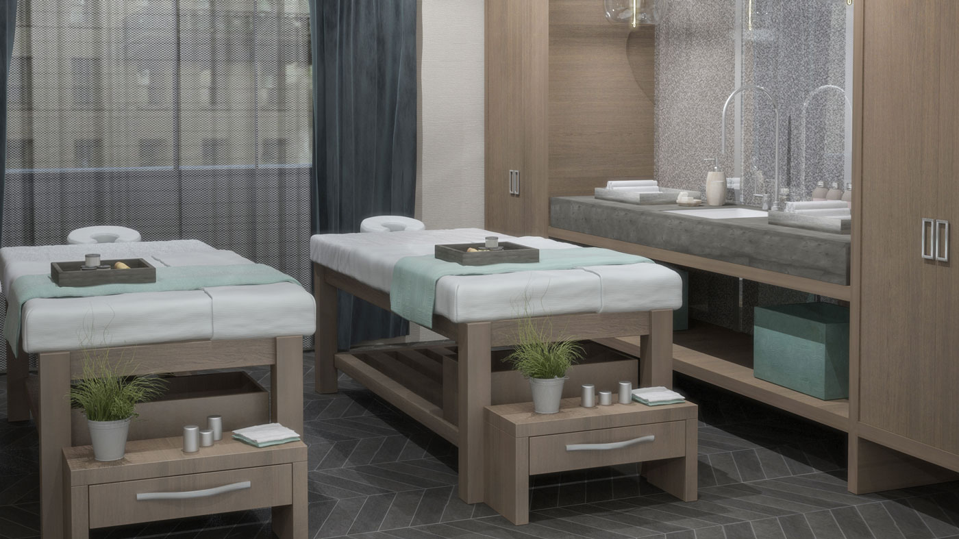Massage tables at the Chuan Body + Soul Spa
