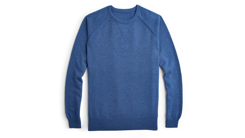 Private White V.C. denim-blue sweater