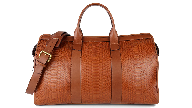 Frank Clegg genuine python duffle bag