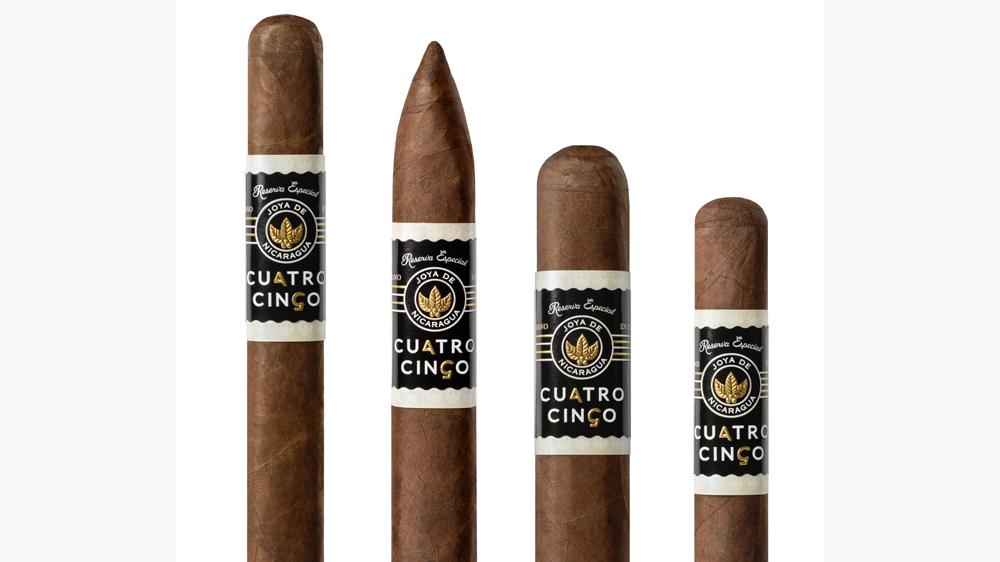Joya de Nicaragua's Cuatro Cinco Reserva Especial cigars in 4 sizes