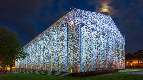 Highlights from Kassel Germany's Documenta 14 art exhibition, featuring The Parthenon of Books by Martha Minujín