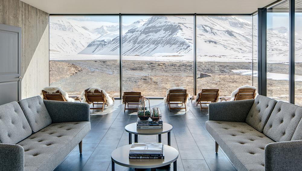 View inside Deplar Farm in Iceland