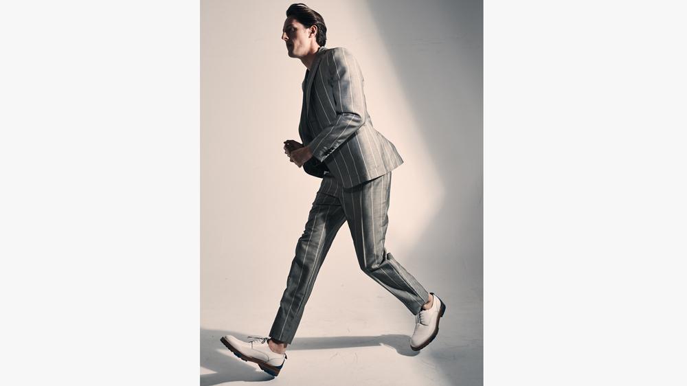 Salvatore Ferragamo suit in lightweight mohair-and-wool