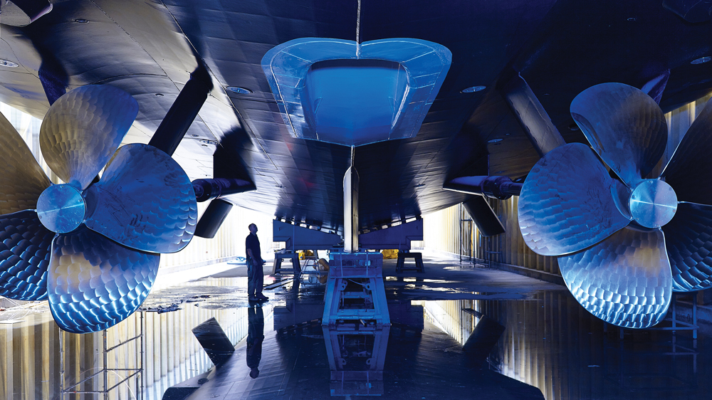 Superyacht Galactica Super Nova underside of the hull