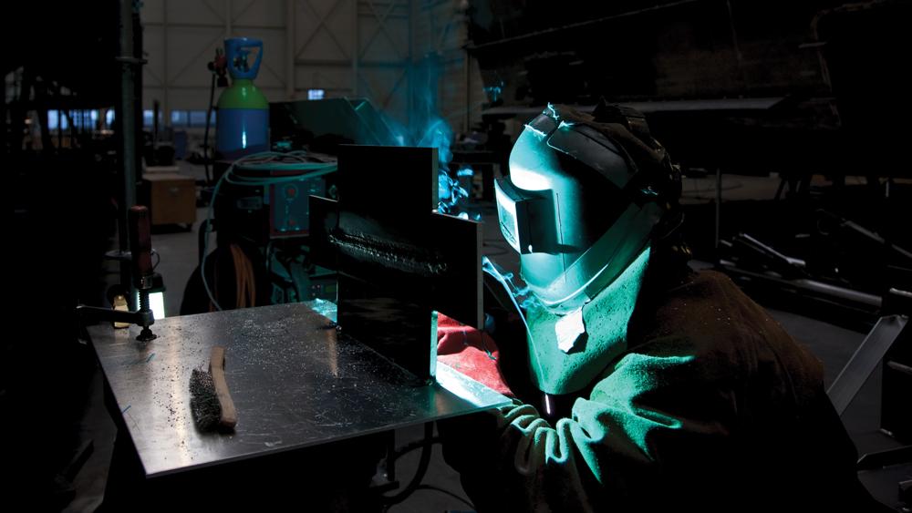Galactica Super Nova yacht welding the hull
