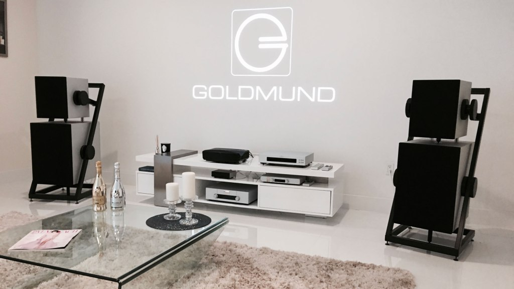 Demo room at the Goldmund Store in West Palm Beach