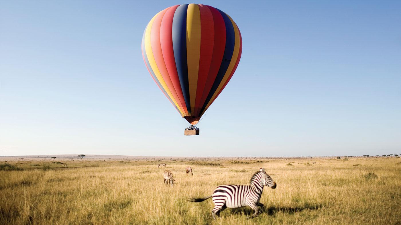 hot air balloon ride in Africa