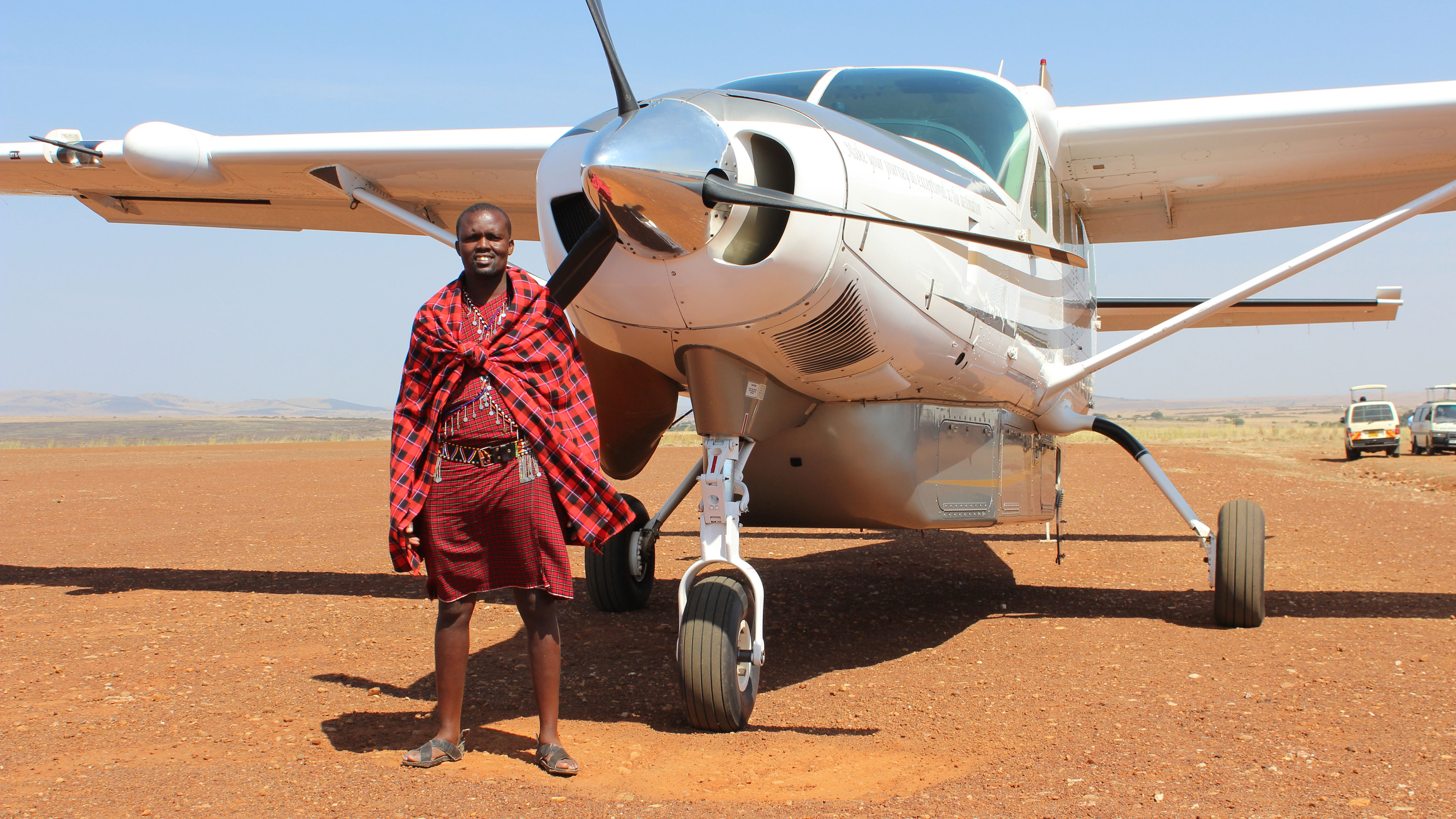 Scenic Air Safaris' new nine-day Endangered Species private-jet safari view of plane