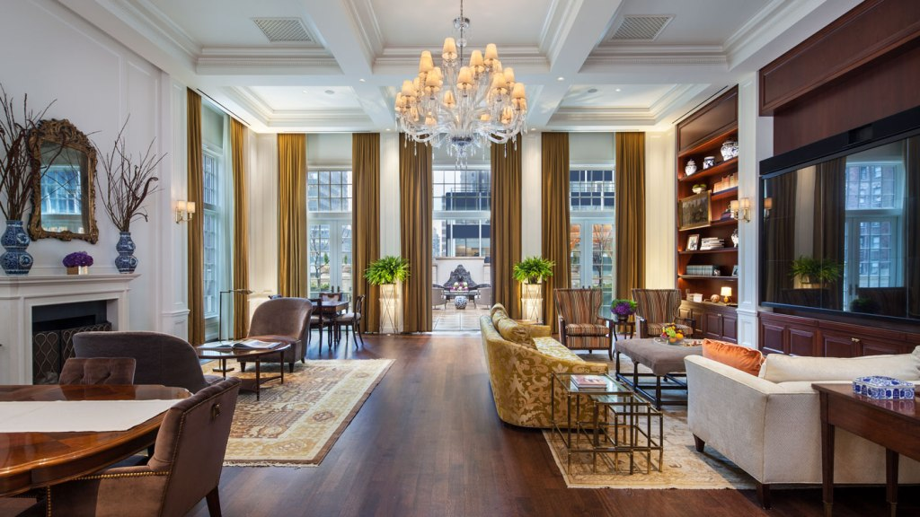 Living area at the Intercontinental New York