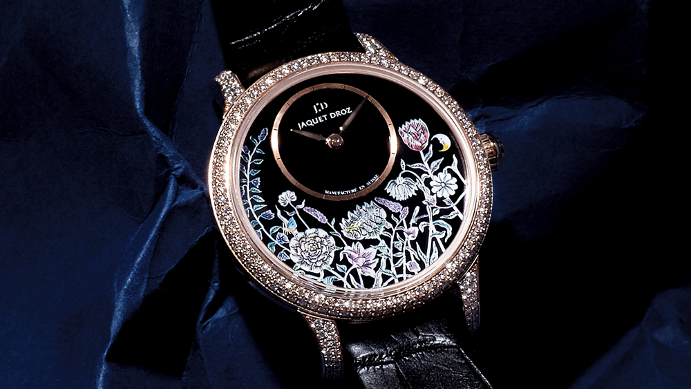 Jaquet Droz Petite Heure Minute Thousand Year Lights watch