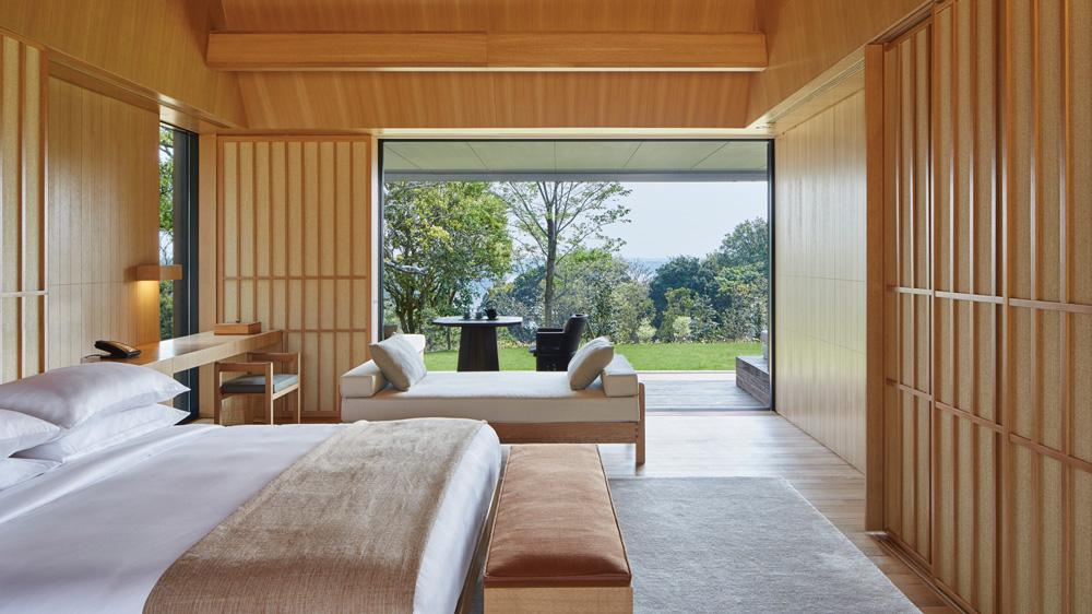 Amenemu lodge in Japan bedroom
