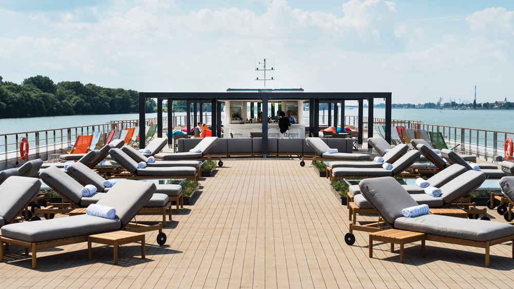 Crystal Cruises' 154-passenger Mozart does the Danube in style showcased in this deck shot of the cruise