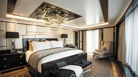 Regent Seven Seas Explorer bedroom on cruise