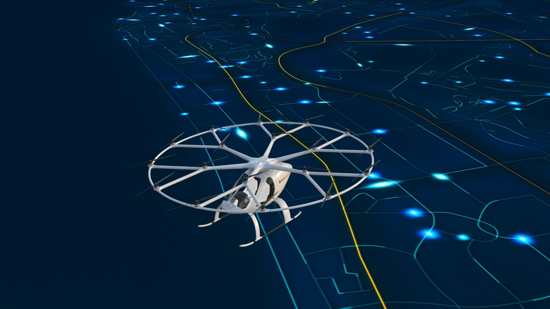 Volocopter 2X Air Taxi autonomous helicopter Dubai