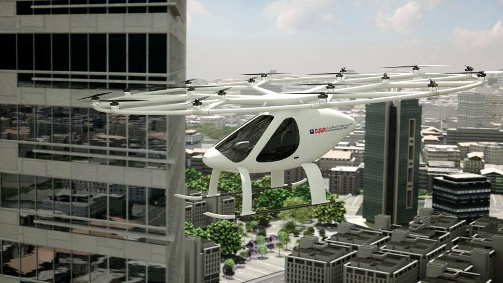 Volocopter 2X air taxi Dubai helicopter