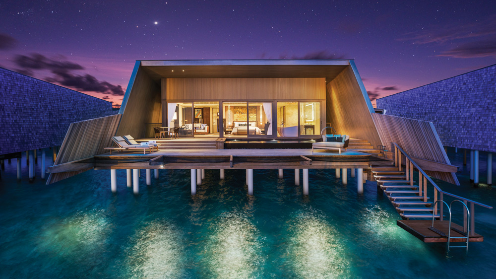 The St. Regis Maldives Vommuli's John Jacob Astor Estate is an overwater mansion of epic proportions seen here