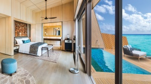 The St. Regis Maldives Vommuli's John Jacob Astor Estate overwater mansion has pristine interiors and an outdoor pool