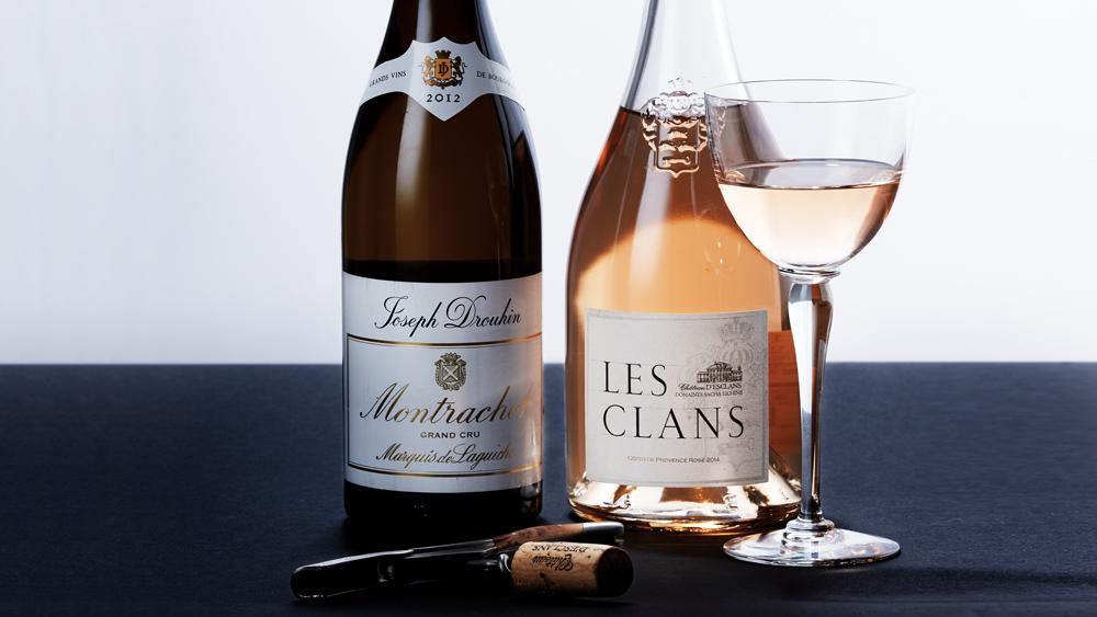 Joseph Drouhin 2014 Montrachet Marquis de Laguiche Grand Cru & Château d'Esclans 2014 Rosé Les Clans Côtes de Provence