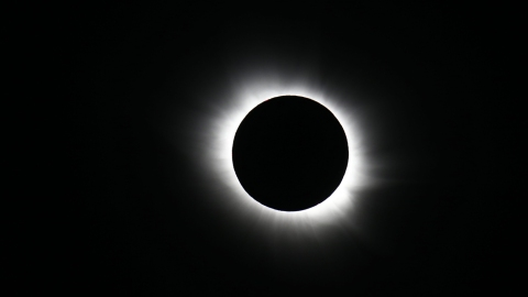 An image of a total solar eclipse.