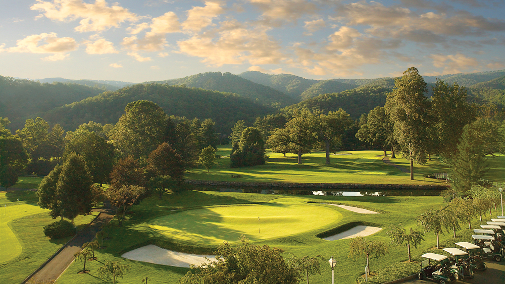 18th-Hole on Old-White at the Greenbrier sporting club