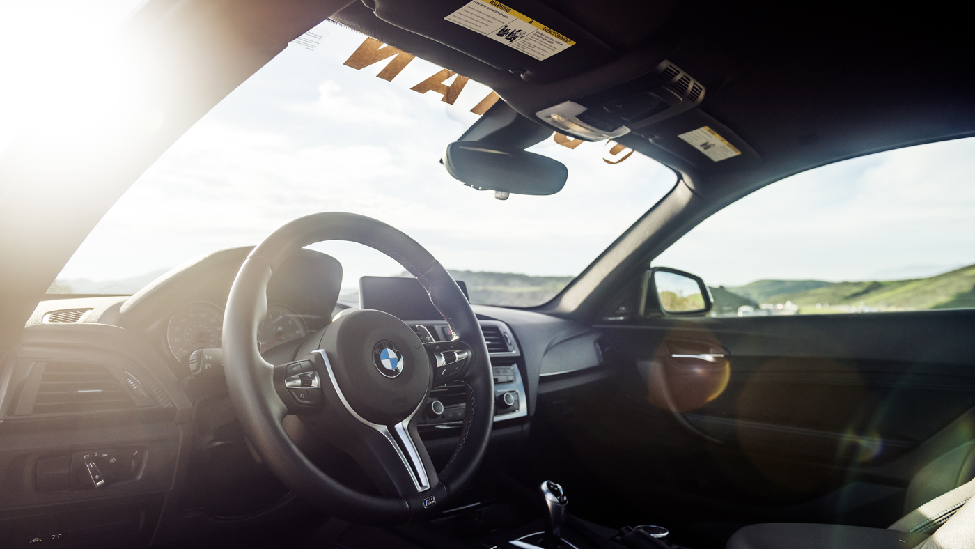 A photo of the enticing interior of the Dinan BMW S2 M2.